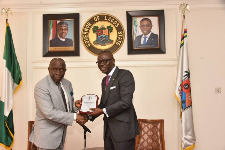 Courtesy visit to Governor Sanwoolu
