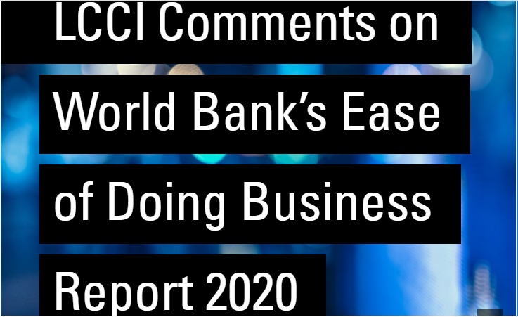 LCCI Comments on World Bank's Ease of Doing Business Report 2020