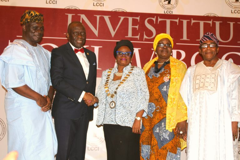 Investiture of Mrs Toki Mabogunje as the President of Lagos Chamber of Commerce and Industry (LCCI )