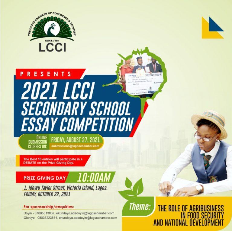 2021 LCCI SECONDARY SCHOOL ESSAY COMPETITION