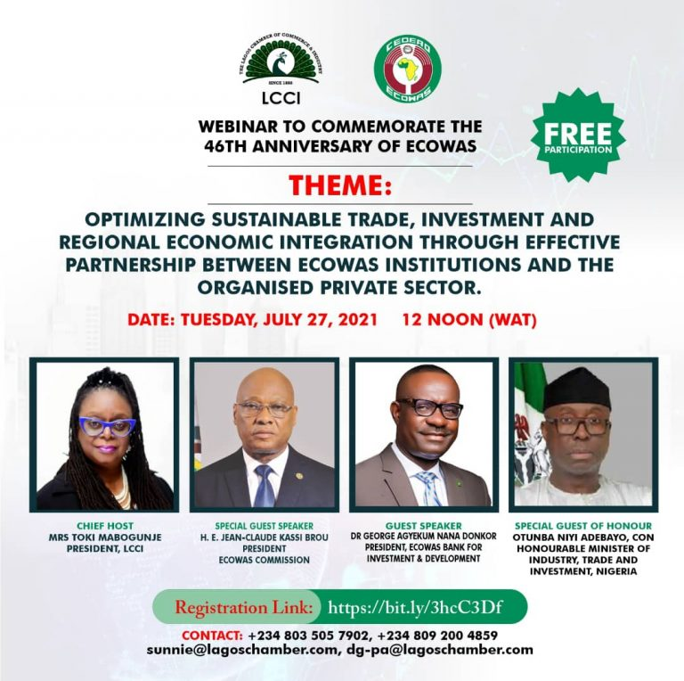 WEBINAR TO COMMEMORATE 46TH ANNIVERSARY OF ECOWAS
