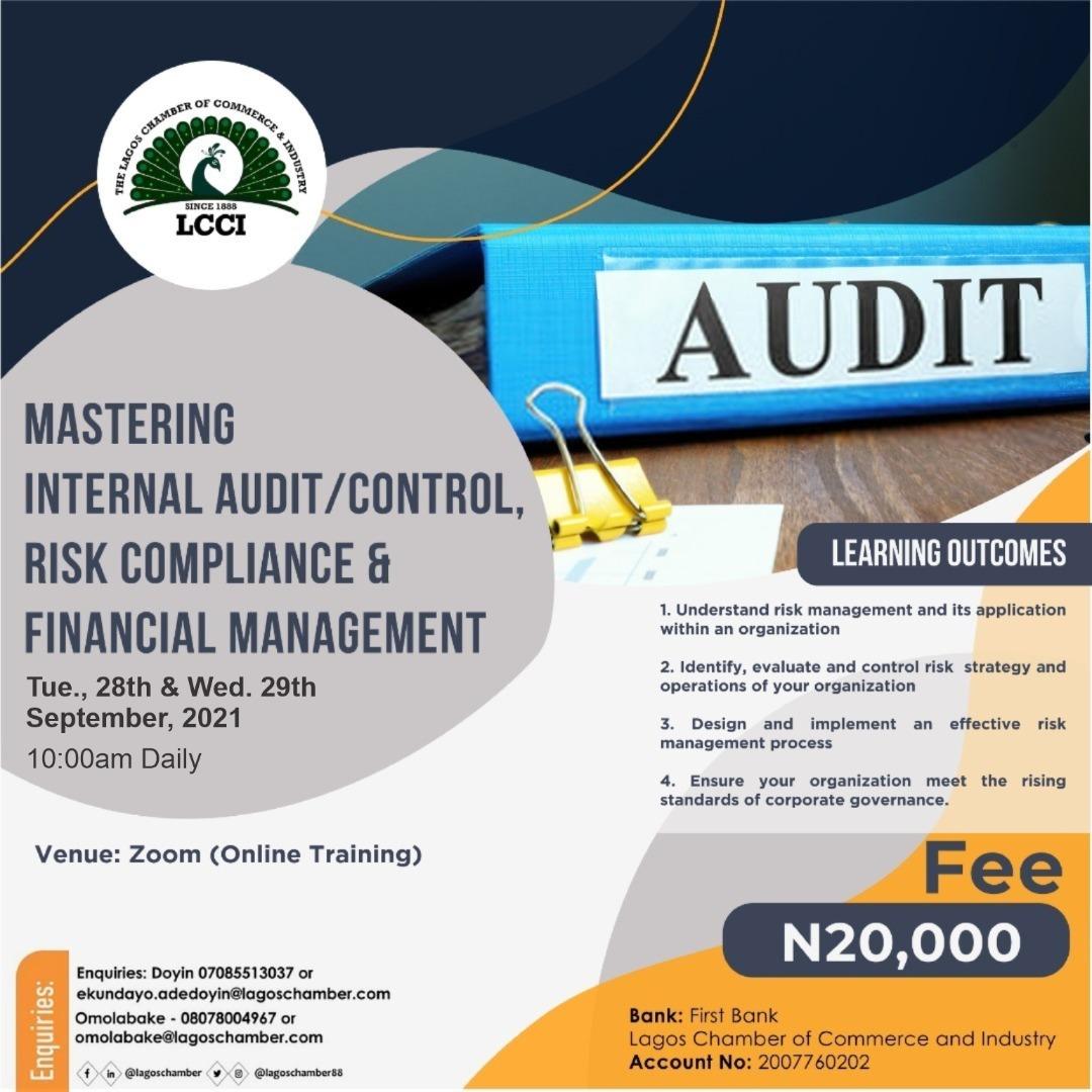 Mastering Internal Audit/Control, Risk Compliance & Financial Management