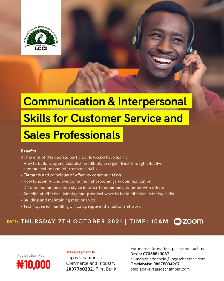 Communication & Interpersonal Skills for Business /Sales Professionals
